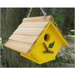 Bird Houses by Mark Chalet Wren Bird House, Yellow found on Bargain Bro from Chewy.com for USD $21.62