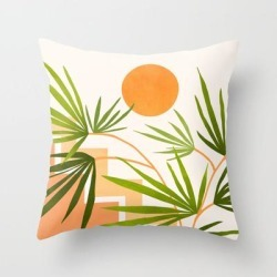 Couch Throw Pillow | Summer In Santa Fe by Modern Tropical - Cover (16