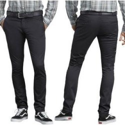 Dickies Men's Flex Skinny Straight Fit Work Pants (Black BK - 32X32)(cotton) found on Bargain Bro Philippines from Overstock for $34.13