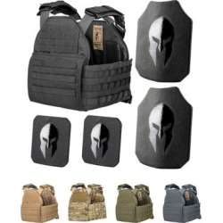 """Armor Systems AR550 Level Iii+ Body Armor And Sentinel Plate Carrier Package Wolf Gray Medium-Extra"""
