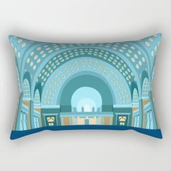 "Union Station Washington D.c. Print Rectangular Pillow by Richealartwork - Small (17"" x 12"")"