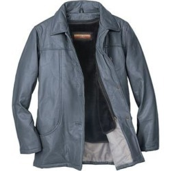Haband Womens Leather Jacket with Zip Out Liner, Pewter, Size L found on Bargain Bro Philippines from Haband for $29.99