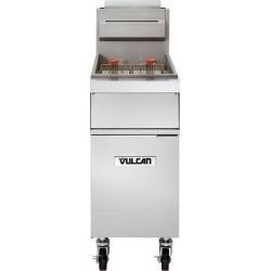 Vulcan 1GR45M-2 45-50 lb. Liquid Propane Floor Fryer - 120,000 BTU
