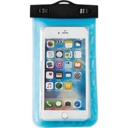 Shou Cellular Phone Cases 20 - Lake Blue Transparent Waterproof Phone Bag found on Bargain Bro from zulily.com for USD $5.31
