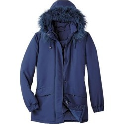 Haband Womens Ultimate Parka, Navy, Size P-XL, PXL found on Bargain Bro Philippines from Haband for $36.99