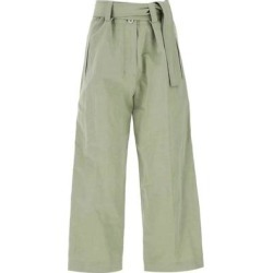Moncler 1952 Tie Belt Wide Leg Pants - Green - Moncler Genius Pants found on Bargain Bro from lyst.com for USD $335.92