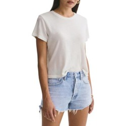 Linda Boxy Organic Cotton T-shirt - White - Agolde Tops found on Bargain Bro from lyst.com for USD $44.08