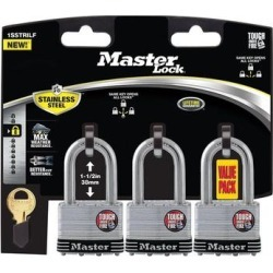 Master Lock 1SSTRILFHC 4-Pin Cylinder Padlock With Key, Stainless Steel - Silver found on Bargain Bro from Overstock for USD $28.00