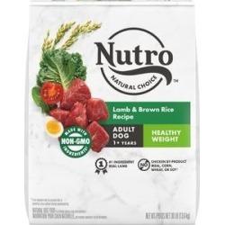 Nutro Natural Choice Healthy Weight Adult Lamb & Brown Rice Recipe Dry Dog Food, 30-lb bag