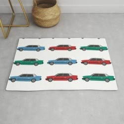 Modern Throw Rug | Hong Kong Taxi by Hongkie_graphics - 2' x 3' - Society6 found on Bargain Bro India from Society6 for $34.30