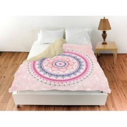 Oliver Gal 'Bright Mandala'Duvet Cover (Twin), White, The Oliver Gal Artist Co. found on Bargain Bro from Overstock for USD $93.13