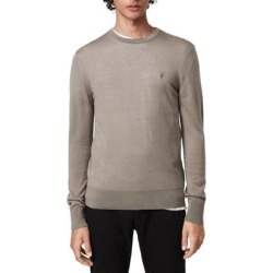 Mode Slim Fit Merino Wool Sweater - Gray - AllSaints Knitwear found on Bargain Bro India from lyst.com for $60.00