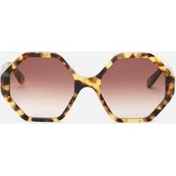 Octagon Frame Acetate Sunglasses - Brown - Chloé Sunglasses found on Bargain Bro India from lyst.com for $320.00