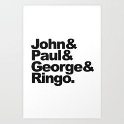 Art Print | John, Paul, George & Ringo by Andy Mccormack - X-Small - Society6 found on Bargain Bro India from Society6 for $16.79