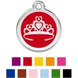 Red Dingo Crown Personalized Stainless Steel Dog & Cat ID Tag, Red, Medium found on Bargain Bro India from Chewy.com for $14.99