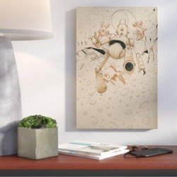 Wrought Studio™ 'Float Bot Fish' Giclee Graphic Art Print on CanvasCanvas & Fabric in Brown, Size 18.0 H x 12.0 W x 0.75 D in | Wayfair found on Bargain Bro Philippines from Wayfair for $54.99