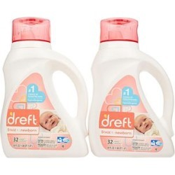 Dreft Laundry Detergents - 50-Oz. HE Baby Detergent - Set of Two
