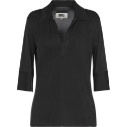 Polo Shirt - Black - MM6 by Maison Martin Margiela Tops found on Bargain Bro from lyst.com for USD $185.44