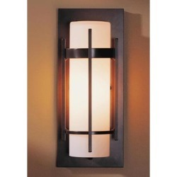Hubbardton Forge Banded 12 Inch Tall 1 Light Outdoor Wall Light - 305892-1015 found on Bargain Bro from Capitol Lighting for USD $284.24