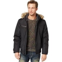 I-N-C Mens Iridescent Cire Parka Coat (Black - X-Large), Men's(fur, solid) found on MODAPINS from Overstock for USD $146.84
