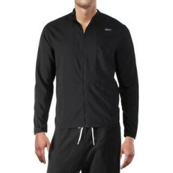 Reebok Mens Track Jacket Windbreaker Fitness - Black (L), Men's(polyester) found on Bargain Bro Philippines from Overstock for $29.64