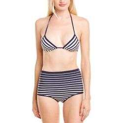 Valentino 2Pc Halter Bikini Set (M), Women's, Blue(nylon, stripe) found on Bargain Bro Philippines from Overstock for $307.99