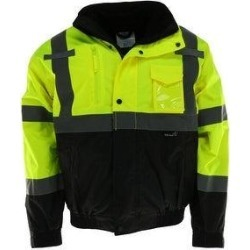Tuff Grip Men's Fluorescent Bomber Rain Jacket with Removable Fleece Lining (5XL), Adult Unisex, Green found on Bargain Bro from Overstock for USD $51.94