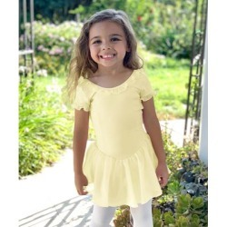 Basic Moves Girls' Tutu Dresses Yellow - Yellow Ruffle-Accent Tutu Dress - Toddler & Girls found on Bargain Bro Philippines from zulily.com for $23.99