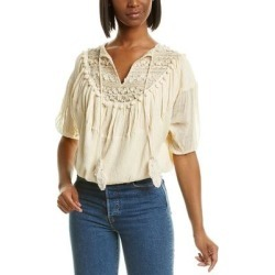 Mes Demoiselles Candid Linen-Blend Top found on MODAPINS from Overstock for USD $107.99