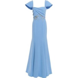 Off-the-shoulder Embellished Crepe Gown Light Blue - Blue - Marchesa notte Dresses found on MODAPINS from lyst.com for USD $268.00