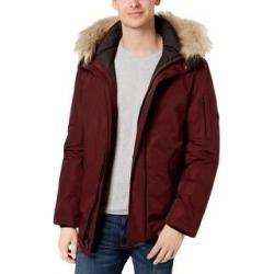 Calvin Klein Mens Snorkel Parka Coat Winter Hooded - Merlot - S (Merlot - S), Men's(acrylic) found on MODAPINS from Overstock for USD $77.24