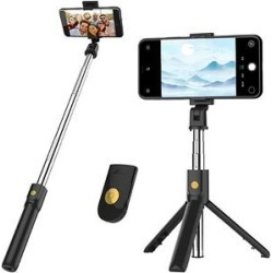 eDooFun Camera Mounts Black - Black Tripod Handheld Monopod & Wireless Remote Control found on Bargain Bro from zulily.com for USD $11.39