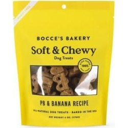 Bocce's Bakery Soft & Chewy Peanut Butter & Banana Recipe Dog Treats, 6-oz bag found on Bargain Bro from Chewy.com for USD $5.70