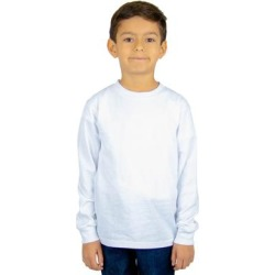 Shaka Wear SHLSY Youth 5.9 oz. Active Long-Sleeve T-Shirt in White size Large | Cotton found on Bargain Bro India from ShirtSpace for $3.35