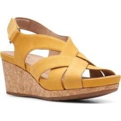 Clarks Women's Sandals Yellow - Yellow Un Capri Step Leather Sandal - Women found on Bargain Bro from zulily.com for USD $26.59