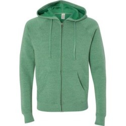 Independent Trading Co. PRM33SBZ Special Blend Raglan Full-Zip Hooded Sweatshirt in Sea Green size 3XL | Cotton/Polyester found on Bargain Bro Philippines from ShirtSpace for $38.91