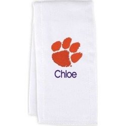 Clemson Tigers Chad & Jake Personalized Burp Cloth - White found on Bargain Bro Philippines from Fanatics for $19.99