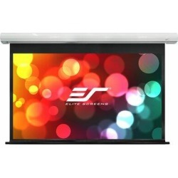 Elite Screens SakerElectric Wall/Ceiling Mounted Projector Screen in White, Size 83.6 H x 98.3 W x 4.3 D in | Wayfair SK100NXW-E24 found on Bargain Bro Philippines from Wayfair for $539.99