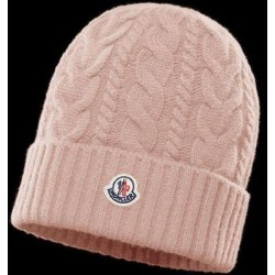 Cable-knit Beanie - Pink - Moncler Hats found on Bargain Bro from lyst.com for USD $250.80