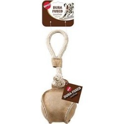 Ethical Pet Dura-Fused Leather Baseball Tug Dog Toy found on Bargain Bro India from Chewy.com for $6.20