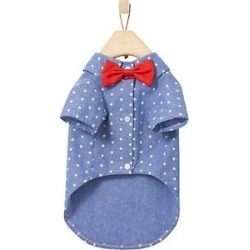 Frisco Polka Dot Chambray Dog & Cat Button Up Shirt, XXX-Large found on Bargain Bro India from Chewy.com for $15.99