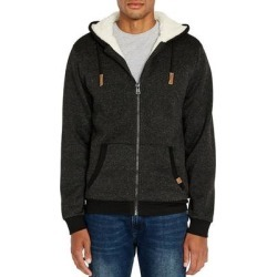 Buffalo David Bitton Mens Hoodie Black Large L Full-Zip Sherpa Marled (L), Men's, Gray(polyester) found on MODAPINS from Overstock for USD $48.98