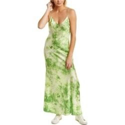 Dannijo Tie-Dye Silk Maxi Slip Dress (8), Women's, Green found on MODAPINS from Overstock for USD $219.99