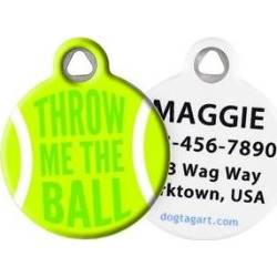 Dog Tag Art Throw Me the Ball Personalized Dog & Cat ID Tag, Large