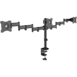 Kantek Monitor Arms Height Adjustable 3 Screen Desk Mount in Black, Size 21.7 H x 57.0 W x 4.7 D in | Wayfair MA230 found on Bargain Bro Philippines from Wayfair for $137.64