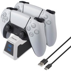 USB-C Upgraded Fast Charging Station with LED Indicator Compatible With PS5 Controller, White / Black found on Bargain Bro Philippines from Overstock for $20.99