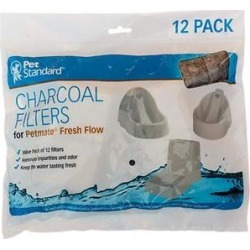 Pet Standard Charcoal Filters for PetMate Fresh Flow, 12 count