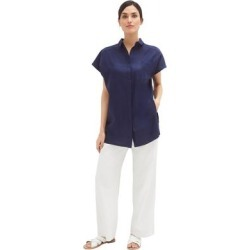 Plus Size Women's Linen Blend Drawstring Pants by ellos in White (Size 16) found on Bargain Bro Philippines from Ellos for $34.90