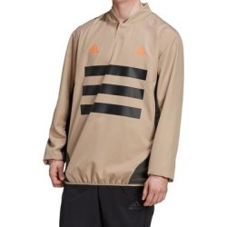 Adidas Mens Jacket Beige Size Medium M Woven Piste 3-Stripes Pullover found on Bargain Bro from Overstock for USD $30.38