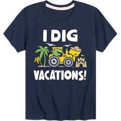 Instant Message Boys' Tee Shirts NAVY - Navy 'I Dig Vacations' Tee - Toddler & Boys found on Bargain Bro from zulily.com for USD $8.35